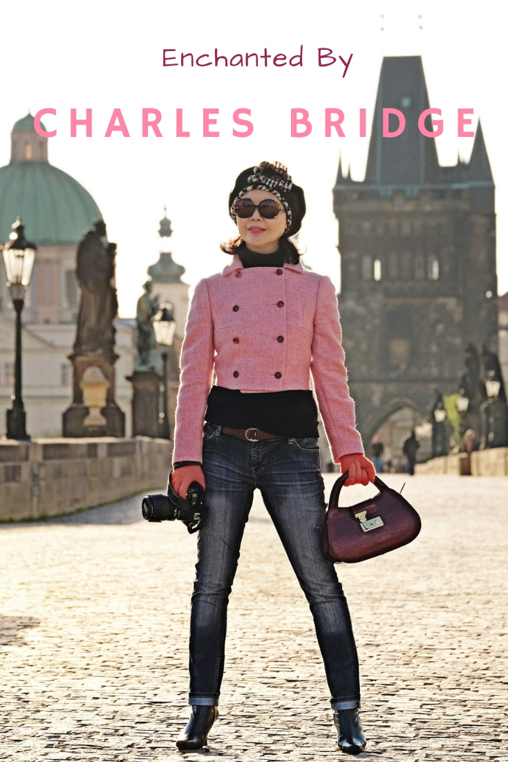 Enchanted by Charles Bridge. Photoshoot on location at Charles Bridge by Australian fashion photographer Kent Johnson for White Caviar Life.