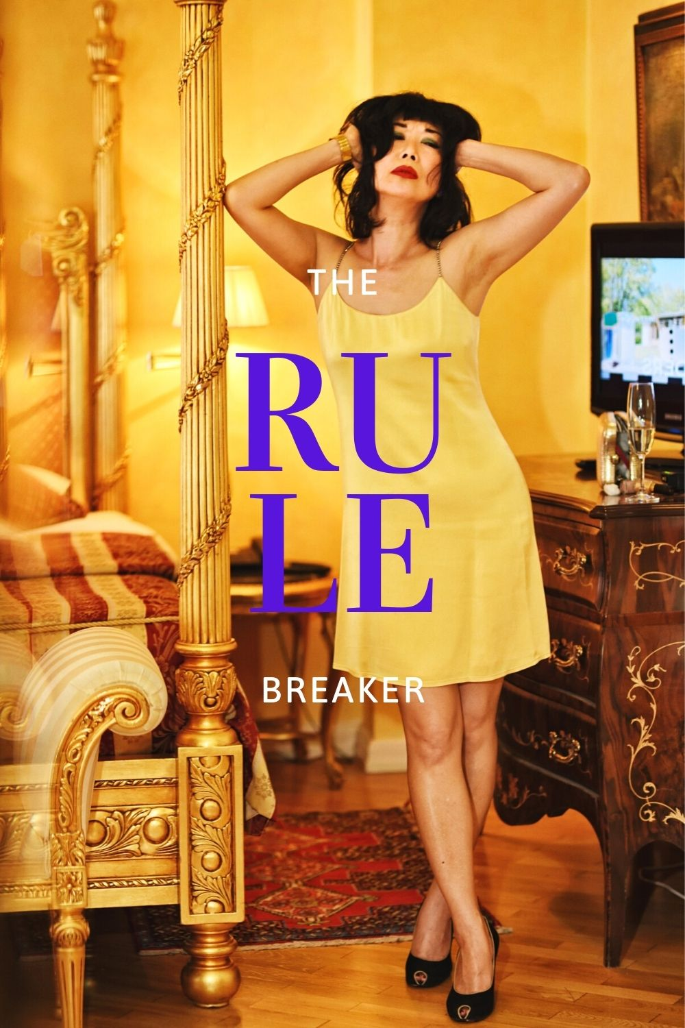 'The Rule Breaker' fashion story by White Caviar Life. Location shoot in a Baroque style luxury hotel suite in Prague by fashion photographer Kent Johnson.