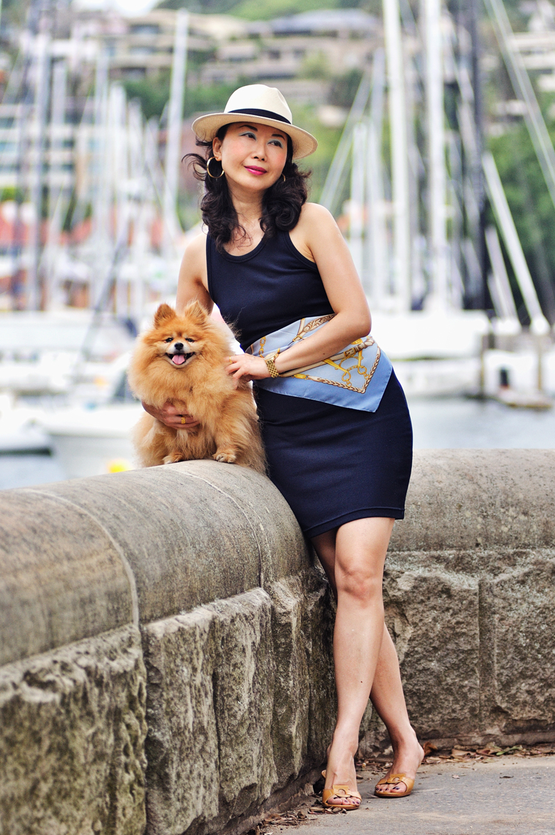 Photoshoot with my ginger-haired Pomeranian by fashion photographer Kent Johnson. Fashion story by White Caviar Life.