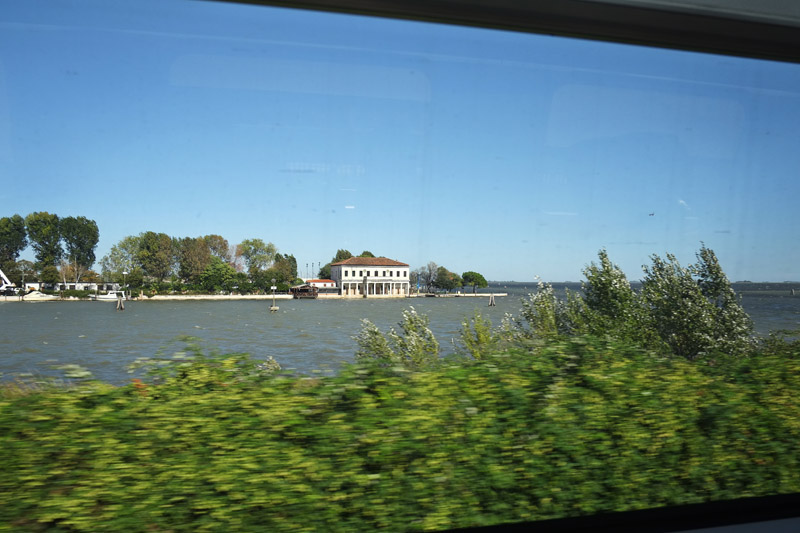Travelling from Milan to Venice by Italo high-speed train.
