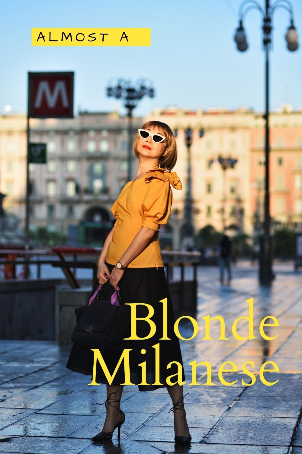 'Almost A Blonde Milanese' fashion story by White Caviar Life. Fashion shoot on location at Milan Cathedral (Duomo di Milano) by Australian photographer Kent Johnson.