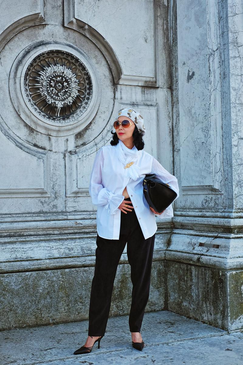 'My Casanova Shirt Proves Italians Do Do It Better' fashion story by White Caviar Life. Photoshoot on location in Venice by Australian fashion photographer Kent Johnson. New Romantic inspired pirate fashion look.